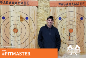Agawam Axe House, Agawam Axe, Axe House, The Axe House, Agawam MA, Axe Throwing, Leagues, PitMaster, Pit Master