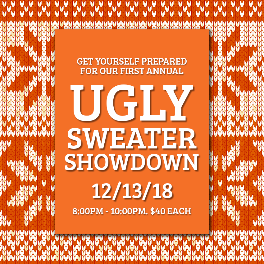 Ugly Sweater Party, Ugly Sweater, Ugly Chrismas sweater, Ugly Sweater Showdown, Corporate Team Building, Corporate Events,Agawam Axe House, Agawam Axe, Axe House, The Axe House, Agawam MA, Axe Throwing, Leagues, PitMaster, Pit Master