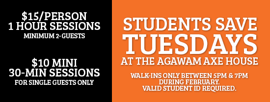 studentdiscount, savings, studentsavings, student savings, save, axe throwing