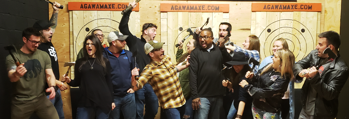 Corporate Team Building, Corporate Events,Agawam Axe House, Agawam Axe, Axe House, The Axe House, Agawam MA, Axe Throwing, Leagues, PitMaster, Pit Master