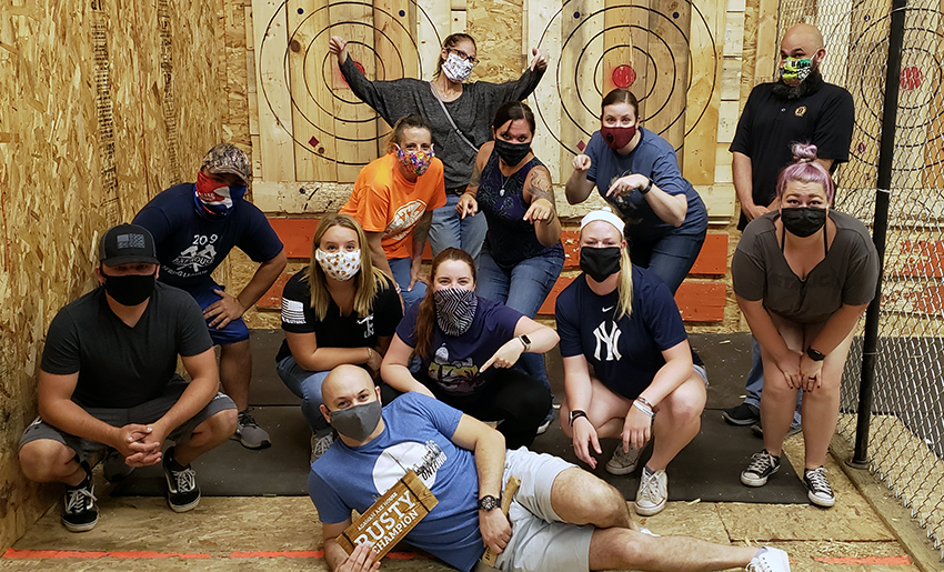 Axe Throwing Tournament - Rusty - Group Photo