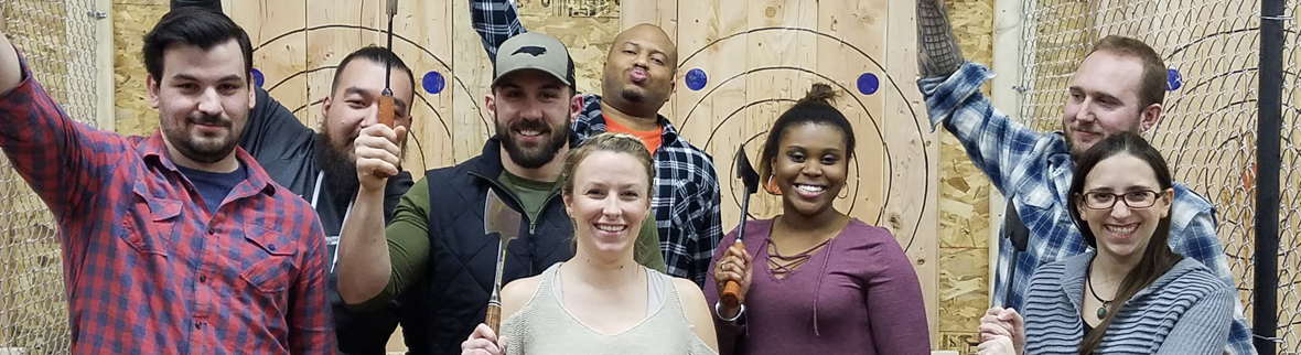 Agawam Axe House - Corporate Events - Team Building - Employee appreciation - large events - Western Mass - Axe Throwing