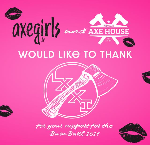 Agawam Axe House - Burn Battle 2021 - 81 Axes Sponsorship