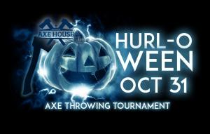 Halloween - Hurl-o-Ween axe throwing tournament at the Agawam Axe House